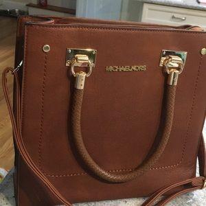 Mike Kors whip stitch shoulder bag